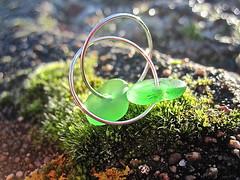 Havsglas Sverige 024 (Havsglas Sverige) Tags: sea earrings seaglass strandglas havsglas