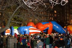 Uncle Sam and Spiderman: Macy's Thanksgiving Balloon Inflation 2012 (NYCNYC) Tags: balloon ballooninflation thanksgivingdayballoon