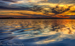 Ripples (Frozen Image Photography) Tags: autumn sunset cloud lake tree fall water minnesota evening ripple scape matchpointwinner frozenimagephotography mpt224