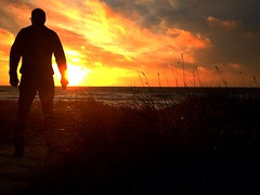 iSelf - Morning Sea (samsondk) Tags: selfportrait silhouette sunrise denmark streetphotography aarhus urbanphotography publicphotography iself iphoneonly