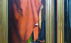Dürer, The Four Apostles, detail with drapery, left panel