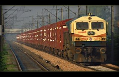 Sabarmati GIR LION WDG4 #12273 (Trains @Glance !!!) Tags: camera canon flickr diesel delhi indian lion loco trains hobby locomotive northern railways glance nagar gir halt rakes emd wdg railfanning sabarmati intrest chander irfca 12273 wdg4 boxn sx130is