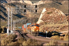 Eastbound at CP Walker (greenthumb_38) Tags: railroad up train desert trains tradition silverwood pilgrimage bnsf cajon cajonpass canon40d desertrailroading jeffreybass cpsilverwood cajonpilgrimage pilgrimshill