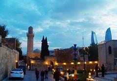 Old city, new construction (alican ayman) Tags: building tower art museum state kodak center baku azerbaijan mosque caspian turkic lifecenter bakü azerbaycan oldsoviet flametowers kodakz990 z990