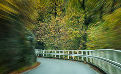 Road Ahead? (m4barcelona) Tags: road longexposure autumn italy mountain pull countryside italia g4 driving zoom country