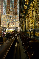 Inside The Church of St Mary's - Krakow, Poland (Kelvin Lee - Travel, Tennis, Street Photographer) Tags: street travel castle clouds river photography europe skies cityscape cathedral cloudy johnpaulii 28mm culture stpaul wawel sunny wideangle panasonic stpete cracow oldtown cultural marketsquare schindler staremiasto kazimerz lx3