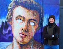 Jimmy Cochran (Jimmy C) on finishing his latest piece, Shoreditch, London, England. 4th Dec 2012. (Joseph O'Malley64) Tags: uk greatbritain england london art youth graffiti mural unitedkingdom britain murals urbanart shoreditch gb popculture graffitiartist eastend eastlondon wallmural youthculture jimmyc wallmurals jimmycochran