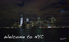 Welcome to NYC (Eva_Linda) Tags: nyc skyline luces manhattan skylines brooklynbridge nuevayork puentedebrooklyn