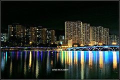 Hong Kong Night Scene, Shing Mun River, Shatin (Bigmuse) Tags: world china street light sea hk night river hongkong landscapes photo scenery asia flickr view photos scene hong kong land nightscene  sar shing shatin  mun  shingmunriver  bigmuse