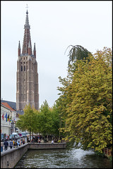 Bruges (John R Chandler) Tags: church river belgium bruges churchofourlady onzelievevrouwekerk riverdijver