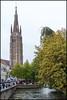 Bruges (John R Chandler) Tags: church river belgium bruges churchofourlady onzelievevrouwekerk riverdijver