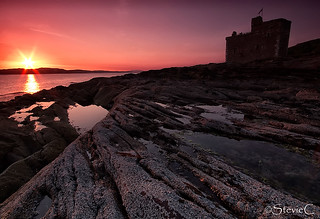 Portencross Castle Sunset