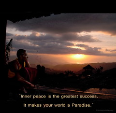 Inner Peace - Quote - Paradise (h.koppdelaney) Tags: life art digital photoshop paradise peace view symbol quote buddha religion picture monk buddhism philosophy harmony mind goldenage meditation teaching awareness metaphor enlightenment success stillness psyche symbolism psychology archetype conscious goldeneszeitalter koppdelaney