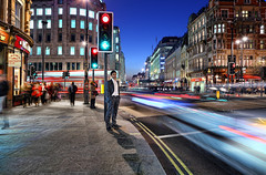Traffic on the Strand (Anatoleya) Tags: street city light 3 london night strand canon person prime evening long exposure traffic mark f14 iii trails le l 5d 24mm hdr f14l 5d3 anatoleya