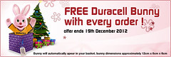 Free Duracell Bunny Offer
