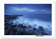 Causeway blue (Horia Bogdan) Tags: blue sea seascape nature rock coast seaside twilight long exposure natural dusk northernireland causeway giantscausway