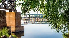 Summer under the viaduct (Sky Noir) Tags: river summer bridges rva richmond va virginia