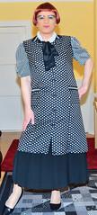 Birgit022670 (Birgit Bach) Tags: pleatedskirt faltenrock bowblouse schleifenbluse