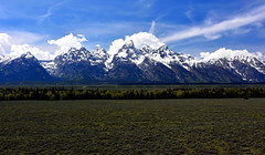 The Tetons rise out of the Earth. (Redbird310) Tags: mountains rockymountains mountain range wyoming national park landscape snow
