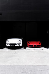 Pleased to meet you (mohamedyamin_masop) Tags: olympus toughth4 street sportscar car red white black minimalism bleachbypass