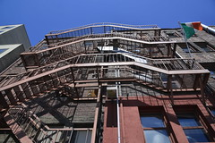 LOOK UP (shireye) Tags: pikeplacemarket seattle wa washington usa postalley fireescape stairs shadows lookup