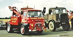 Mixed recovery. (pyewacket947) Tags: truck transport austin douglas fh aec recovery matador wellesbourne timbertractor warks clarkestransport