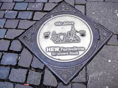 Hamburg (lukedrich_photography) Tags: sony dscw55 sonydscw55 germany deutschland bundesrepublikdeutschland federalrepublicofgermany westerneurope europe european city hdr europa      history culture hamburg hamborg freieundhansestadthamburg 100 year jahre 1894 1994 hew fernwarmefurunserestadt anniversary manhole marker brick cobblestone cobble sidewalk landmark