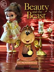 Beauty and the Beast ! (HollysDollys) Tags: disney disneydoll disneydolls disneystore doll dolls dolly dollies beautyandthebeast beauty belle bellsie animatordoll animator lumiere cogsworth playdoll hollysdollys wwwhollysdollyscouk clock bigben candelabra candlestick
