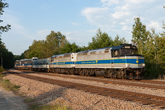 The Screamers of Saratoga Springs (sullivan1985) Tags: newyork ny saratogasprings saratoganorthcreek northcreek saratoga emd f40ph amtrak amt amtk mbta snc passenger passengertrain screamer snc319 snc411 southbound excursion cp canadianpacific train railroad railway
