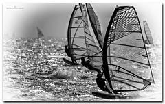twilight windsurf (jdl1963) Tags: windsurf windsurfing twilight blackandwhite black white bw monochrome silhouette