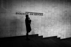 *** (Misha Sokolnikov) Tags: moscow russia streetphotography street candid smoke fumar 50mm aposummicron leica leicamonochrom leicamm blackandwhite blanconoir noiretblanc mono stairs