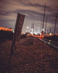 SHUNT (Blockshadows) Tags: urban wander exploring outdoors tracks lines toned tone tones muted somber moody grimey downtown colorado denver city lights nightowl 6d canon 50mm f12 12 canon50mmf12 50mmf12 bokeh longexposure nighttime night nightphotography traintracks railroad railfan shunt