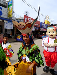 'Phi Ta Khon'.. Ghost Mask Parade,  Loie,  Thailand (larryoien) Tags: loie thailand phitakhon ghostmask parade lumix lx5 travellight compactdigital totallythailand