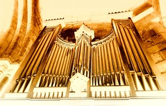 Play those pipes (Jeanni) Tags: pipes organ music church architecture stone golden creativechallenge sony heavenly
