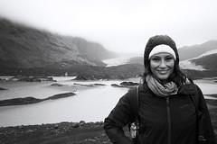 Manu on Vatnajokull - Iceland (Ste Cube) Tags: iceland vatnajokull ghiacciaio manu islanda bw blackwhite bianconero portrait ritratto