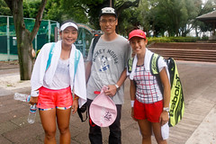 Group shot with an Olympic player Eri Hozumi and her doubles partner Miyu Kato!