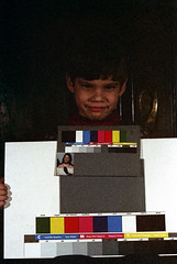 33-685 (ndpa / s. lundeen, archivist) Tags: nick dewolf nickdewolf 33 reel33 color photographbynickdewolf 1970s 1972 fall film 35mm winter 1973 child boy son ivan colortest shirleycard colors grayscale spectrum
