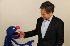 "Deputy Secretary Blinken Meets With Sesame Street's ""Grover"" (U.S. Department of State) Tags: antonyblinken grover unga sesamestreet newyork"