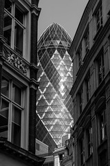 View From Fenchurch Street (justingreen19) Tags: 30stmaryaxe fenchurchstreet financialdistrict gherkin london londoncity modernskyscraper normanfoster offices squaremile stmaryaxe swissre thegherkin buildings city justingreen19 skyscraper streetphotography urban urbanabstract windows