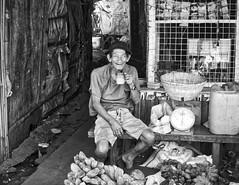 Tea Break (Beegee49) Tags: libertad market tea break bacolod city philippines street bw