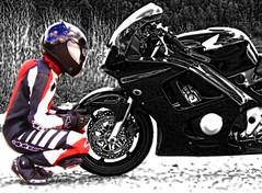 HONDA driver (driver Photographer) Tags:   aprilia cagiva honda kawasaki husqvarna ktm simson suzuki yamaha ducati daytona buell motoguzzi triumph bmv driver motorcycle leathers dainese