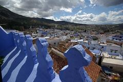 Chefchaouen - blue city (Sallyrango) Tags: africa blue terrace muslim arabic morocco maroc chaouen chefchaouen bluecity roofterrace casaperleta