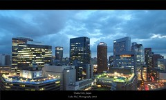 Before night skyline, Osaka, Japan (Luke,Ma) Tags: street city building japan skyline night digital ed four view shot traffic olympus m micro   ez osaka ba  prefecture kansai  shi sai umeda shinsaibashi hankyu midosuji 43 omd shin mitsukoshi thirds   isetan      m43   greatphotographers   mzd f4056 osakashi em5 osakafu  flickraward dtonbori bashisuji 918mm mzuiko m918 flickrtravelaward ezm918