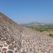Near the top of the Pyramid of the Sun