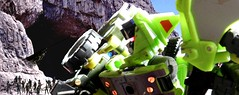 Taking the Fight To the Monster (Dudesnbots) Tags: lady lowlight cobra jay faces bruce wayne n joe stalker agent dudes viper jinx bots gi maximus decepticon constructicon dudesnbots
