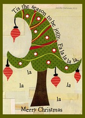 Tis the season (Colorfly Studio) Tags: paper text christmastree merrychristmas tistheseason greetingcarddesign colorflystudio jenniferdedonato
