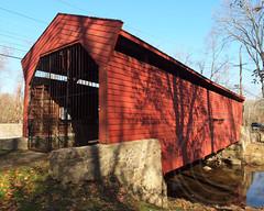 Bartram Covered Bridge over Crum Creek, Newtown, Pennsylvania (jag9889) Tags: bridge crossing pennsylvania historic pa covered newtown burr 2012 bartram 1860 chestercounty truss crumcreek delawarecounty goshenroad jag9889 y2012