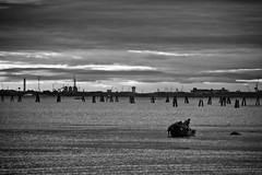 Laguna 1 (lo.re.n.zo.) Tags: venice sunset fisherman tramonto lagoon laguna venezia burano pescatore