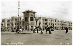 Cairo Railway Station In 1910's [Lehnert & Landrock] (Tulipe Noire) Tags: africa station square egypt middleeast railway cairo egyptian 1910s
