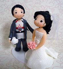 "Topo de Bolo ""So Paulo"" (mara.boarao) Tags: sopaulo biscuit casamento bola noiva spfc topodebolo topodebolobiscuit noivosaopaulino camisetasopaulo"